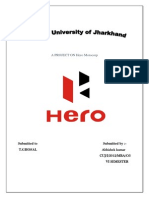 Project on hero motocorp