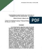 Transtornos plaquetarios cualitativos