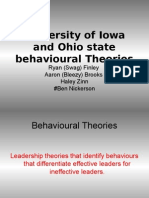 University of Iowa and Ohio State Behavioural Theories