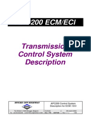 APC 200 Servicemanual | Manual Transmission | Transmission (Mechanics)
