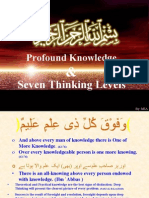 Profound Knowledge & Seven Thinking Levels