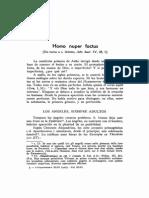 Homo Nuper Factus [en Torno a s. Ireneo, Adv. Haer. IV, 38, 1]