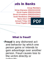 Frauds in Banks