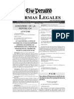 Decreto Supremo N° 074-2001