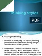 Thinking Styles
