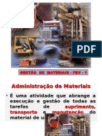 GESTÃO DE MATERIAIS - FBV-1