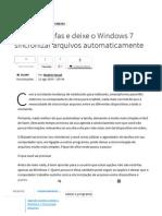 Agende Tarefas e Deixe o Windows 7 Sincronizar Arquivos Automaticamente - TecMundo