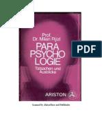 Prof. Dr. Milan Ryzl - Parapsychologie - Tatsachen Und Ausblicke