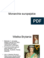 Monarchie europejskie