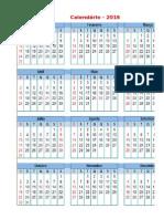 Calendario ufba Com Feriados Nacionais 2016