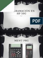 Programacion HP 50 G - Sesion 02 - Menu PRG