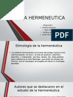 La Hermeneutica