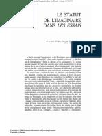 Claude-Gilbert,DUBOIS, Le Statut de l'Imaginaire Dans Les Essais