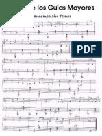 Partitura Himno Guia Mayor
