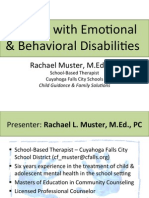 dealing with emotional & behavioral disabilities