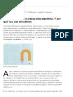 Los diez mitos de la educación argentina. Y por qué hay que discutirlos - 22.02.2015 - lanacion.com