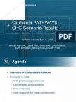 E3 PATHWAYS GHG Scenarios
