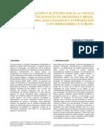 RICYT 2012-2-3 Informacion y Actitudes Hacia La Ciencia