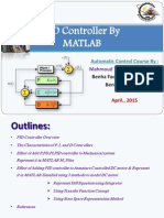 PID Controller By Matlab