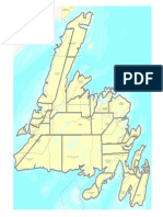 Rough overlay of proposed Newfoundland provincial electoral districts