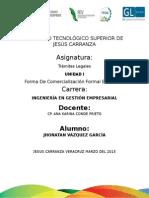 UNIDAD 1 FORMAS DE COMERCIALIZACIÓN EMPRESARIAL