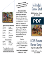 2015 Summer Camp Brochure