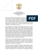 Motu Proprio Summorum Pontificum  - Bento XVI