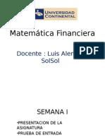 Matemática Financiera- UCCI