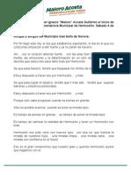 Discurso Maloro Acosta - Arranque de campaña 10-04-15