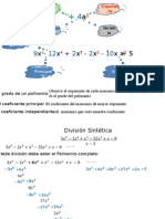 Ecuaciones polinomicas UNI.