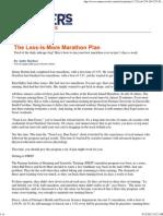 The Less-Is-More Marathon Plan