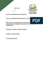 Marco Conceptual para la preparación y presentación de los estados financieros