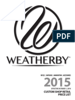 Weatherby 2015 Custom Retail