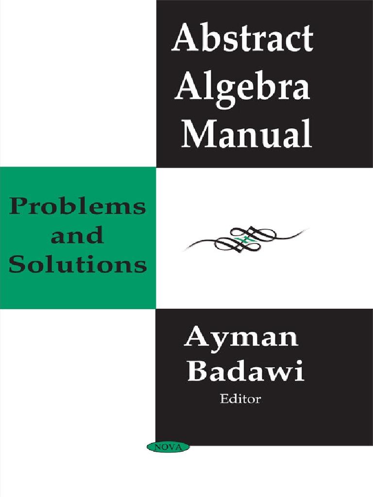 abstract algebra manual problems and solutions badawi pdf ring rh scribd com Emil Artin Biography Emil Artin