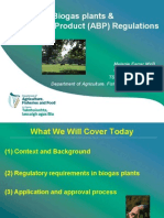 Biogas and APB Regulations