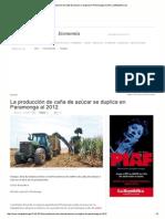 LaRepublica_La Produccion de Caña Sube El Precio 2012