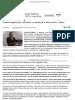 Crimen Organizado Ordenaba en Municipios Intervenidos_ Zerón