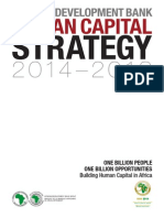 AfDB Human Capital Strategy for Africa 2014-2018 - May 2014