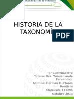 Herman H Flores Historia de La Taxonomía