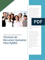 """Dossier Seminario """"Tecnicas de Recursos Humanos Para PyMES"""""""