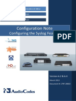 LTRT-28601 Configuring Syslog Configuration Note Ver. 6.2 & 6.4