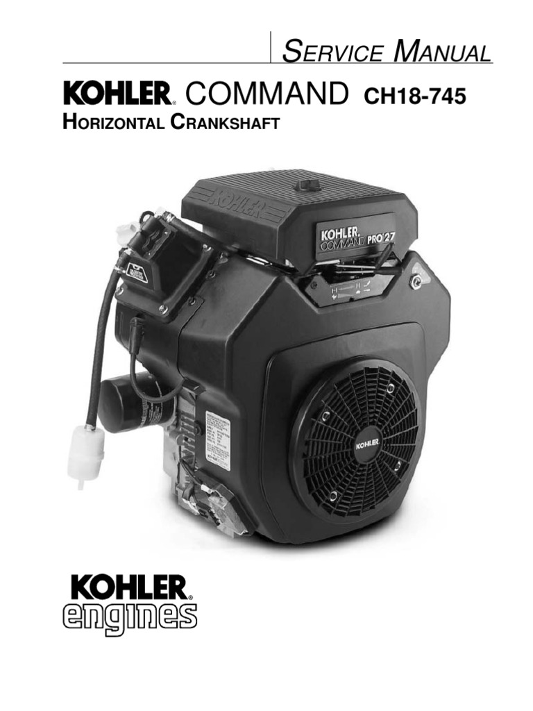 Kohler CH26 Service Manual | Gasoline | Motor Oil