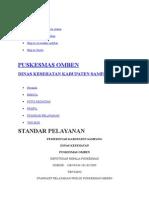 Standart Pelayanan Publik Puskesmas Omben