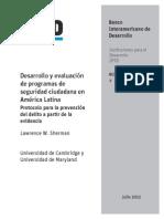 Desarrollo y Evaluación de Programas de Seguridad Ciudadana en América Latina- Protocolo Para La Pre