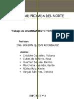 Informe Levantamiento Topopografico Con Wincha
