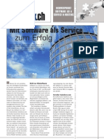 Software as a Service - Einführungsartikel in der Infoweek 02/07