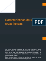 Características de Las Rocas Ígneas