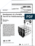 Development of a Portable c Test Kit for Field-Screening Paints