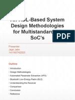 An HDL-Based System Design Methodologies for Multistandard RF