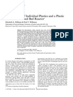 The Pyrolysis of Individual Plastics and a Plastic Mixture in a Fixed Bed Reactor